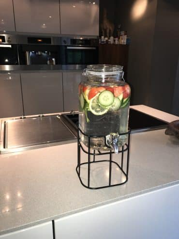 Fruit infused water tap
