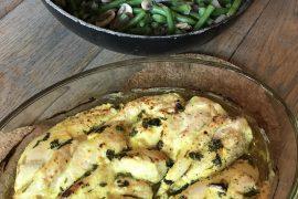 kip met geneeskrachtige kruiden