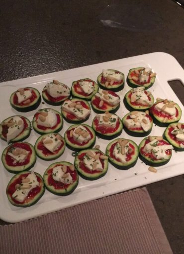 Courgette mini pizza TodayIMeet