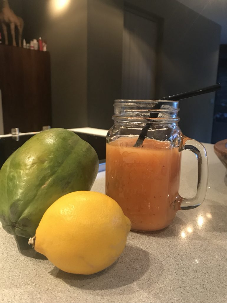Papaya Smoothie Today I Meet